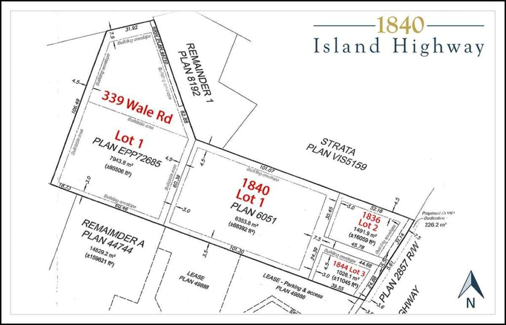 1840 Island Highway Vitoria BC-Plot Plans and layout