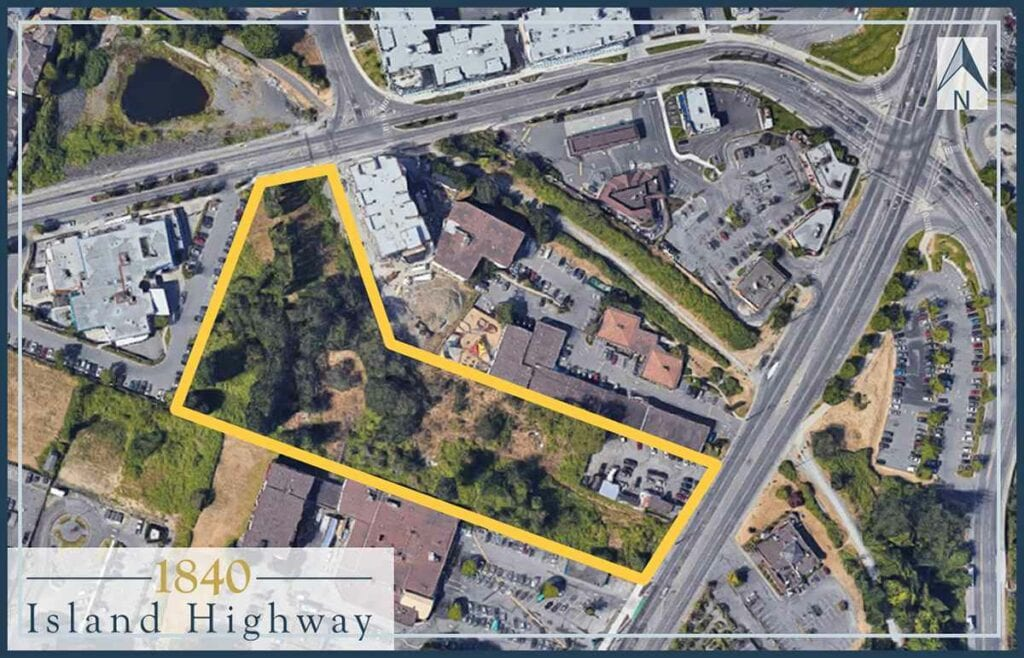 1840 Island Highway Victoria BC-Satellite Property Outline